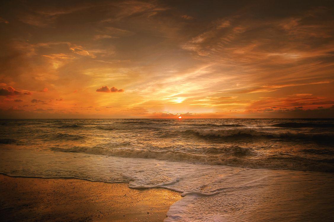 Фото бесплатно закат, море, океан - на рабочий стол