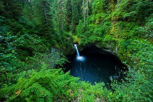 Заставки водопад, columbia river gorge, водоём