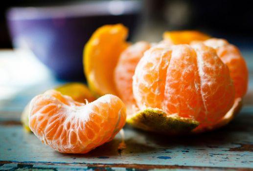 Фото бесплатно цитрусовые, дольки, мандаринки