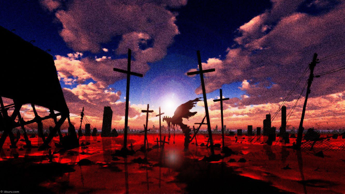 Фото бесплатно Евангелион, бытие, неон - на рабочий стол