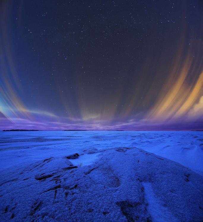Фото бесплатно Финляндия, Хельсинки, ночь, сияние, пейзаж, пейзажи