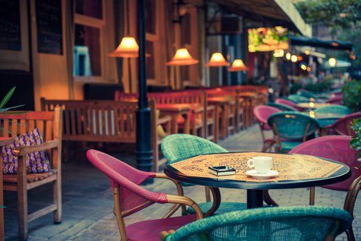 Фото бесплатно кафе, стулья, город