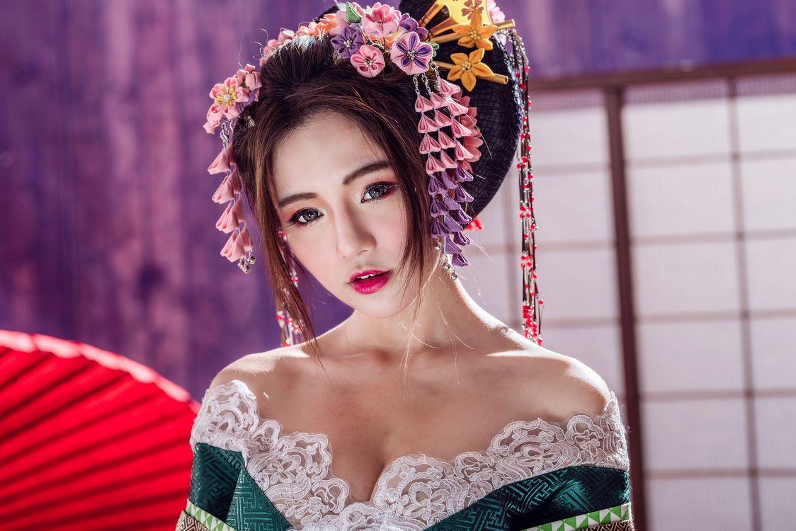 прелестная гейша · бесплатное фото