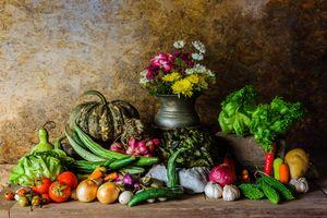 Цветы и овощи · бесплатное фото