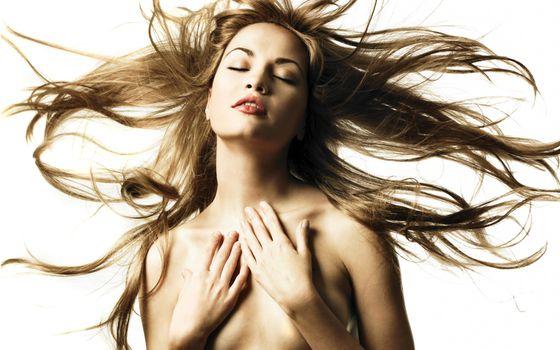 Фото бесплатно длинные волосы, девушки, ветер