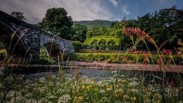 Фото бесплатно река, Llanrwst, река Конви
