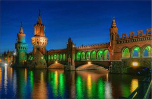 Бесплатные фото Berlin,Germany,фестиваль огней,иллюминация,мост,ночные города