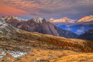 Красивые горы Швейцарии