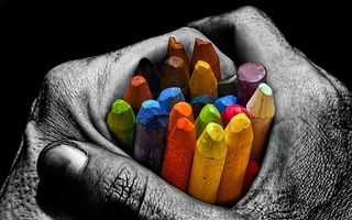 Photo free black, color, hands