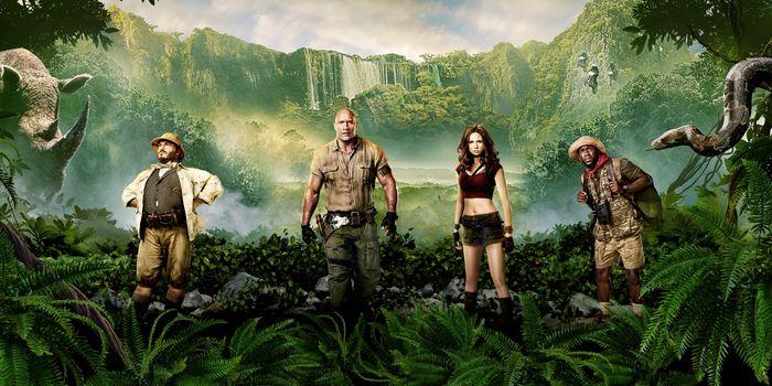Photo free Jumanji: the jungle movie 2017, film, fantasy