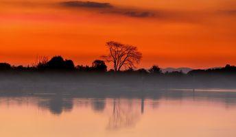 Photo free silhouette, reflection, lake