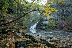 Фото бесплатно Водопад Люцифер, Итака, Нью-Йорк