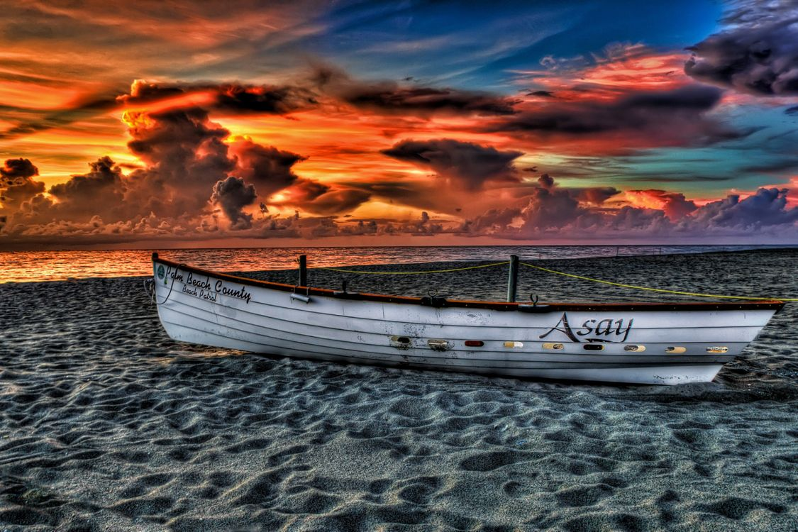 Фото бесплатно пляж, облака, цвета - на рабочий стол