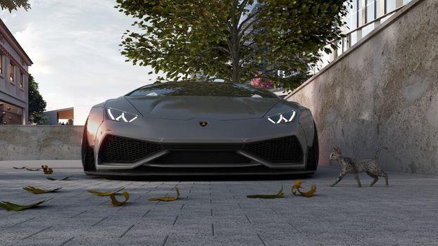Заставки Lamborghini Aventador, серый, низкий