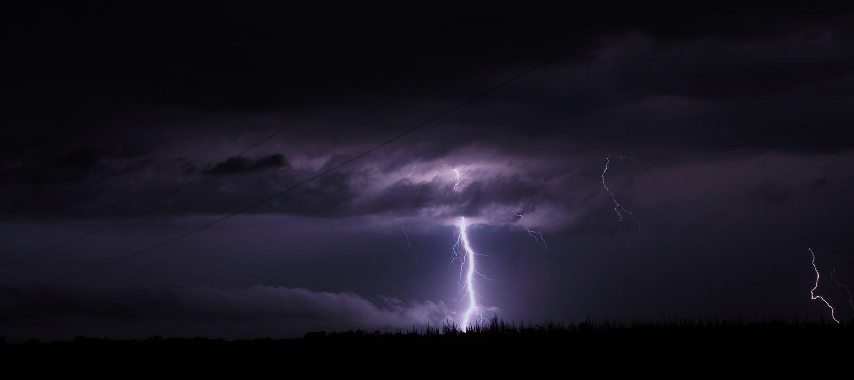 Фото бесплатно шторм, освещение, небо - на рабочий стол