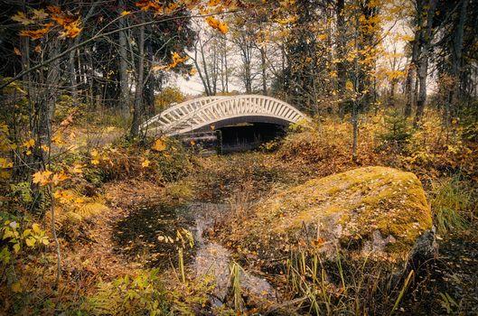 Photo free bridge, Creek, landscape