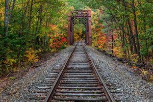 Фото бесплатно осень, железная дорога, мост