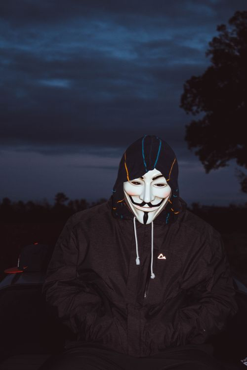 Фото бесплатно Маска Гая Фокса, Хэллоуин, балахон - на рабочий стол