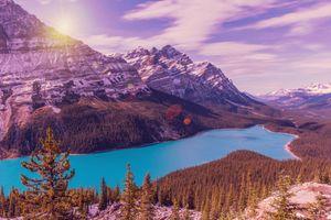 Бесплатные фото Peyto Lake,Banff National Park,Alberta,Canada,озеро,горы,скалы