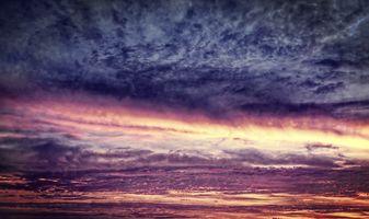 Фото бесплатно закат солнца, красивое небо, красивые облака