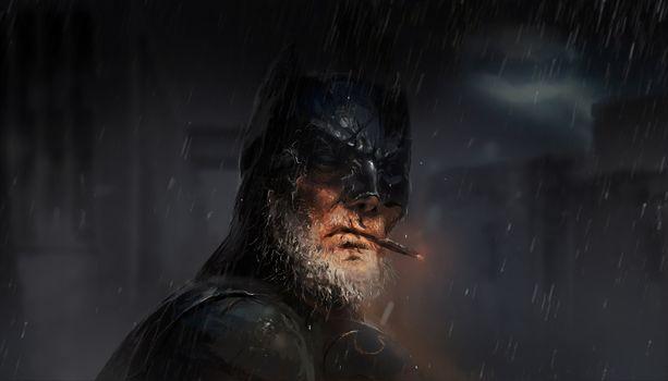 Старый Бетман с бородой