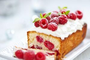 Фото бесплатно торт, малина, выпечка