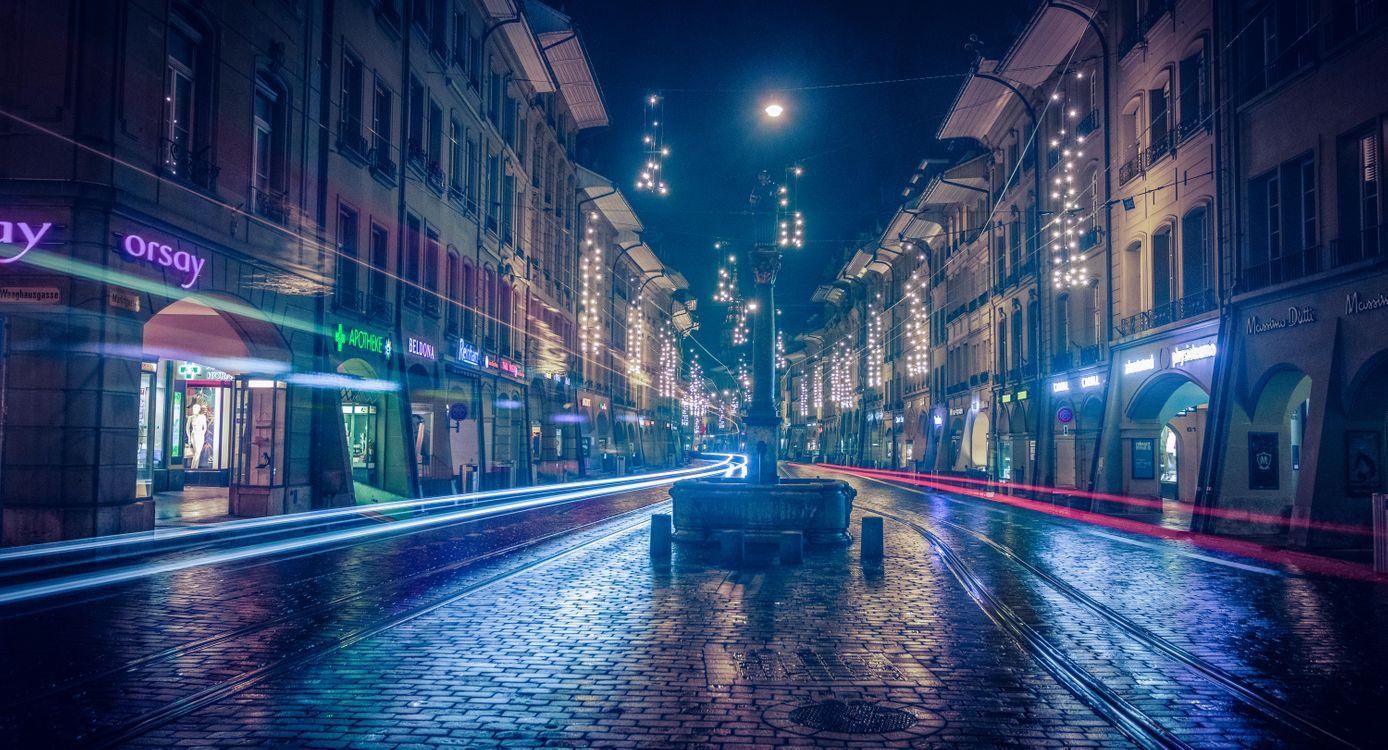 Фото бесплатно Берн, магазины, темнота - на рабочий стол