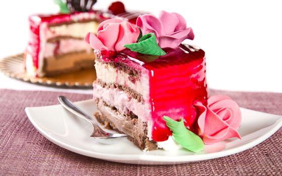 Фото бесплатно торт, украшение, розы