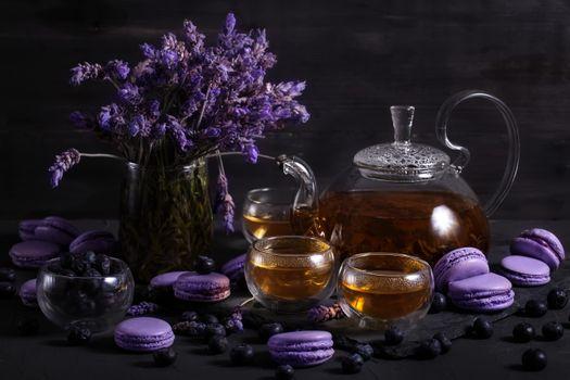 Лавандовое чаепитие · бесплатное фото
