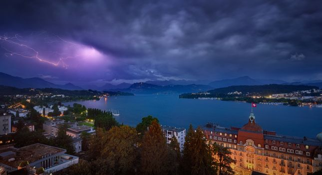Photo free Luzern, Switzerland, night