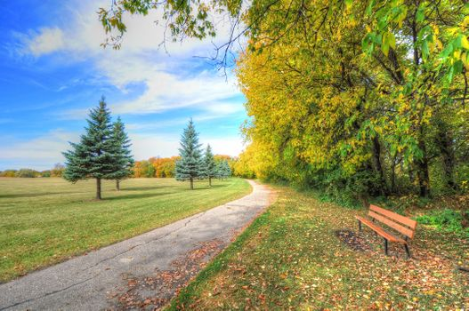 Photo free bench, landscape, Park