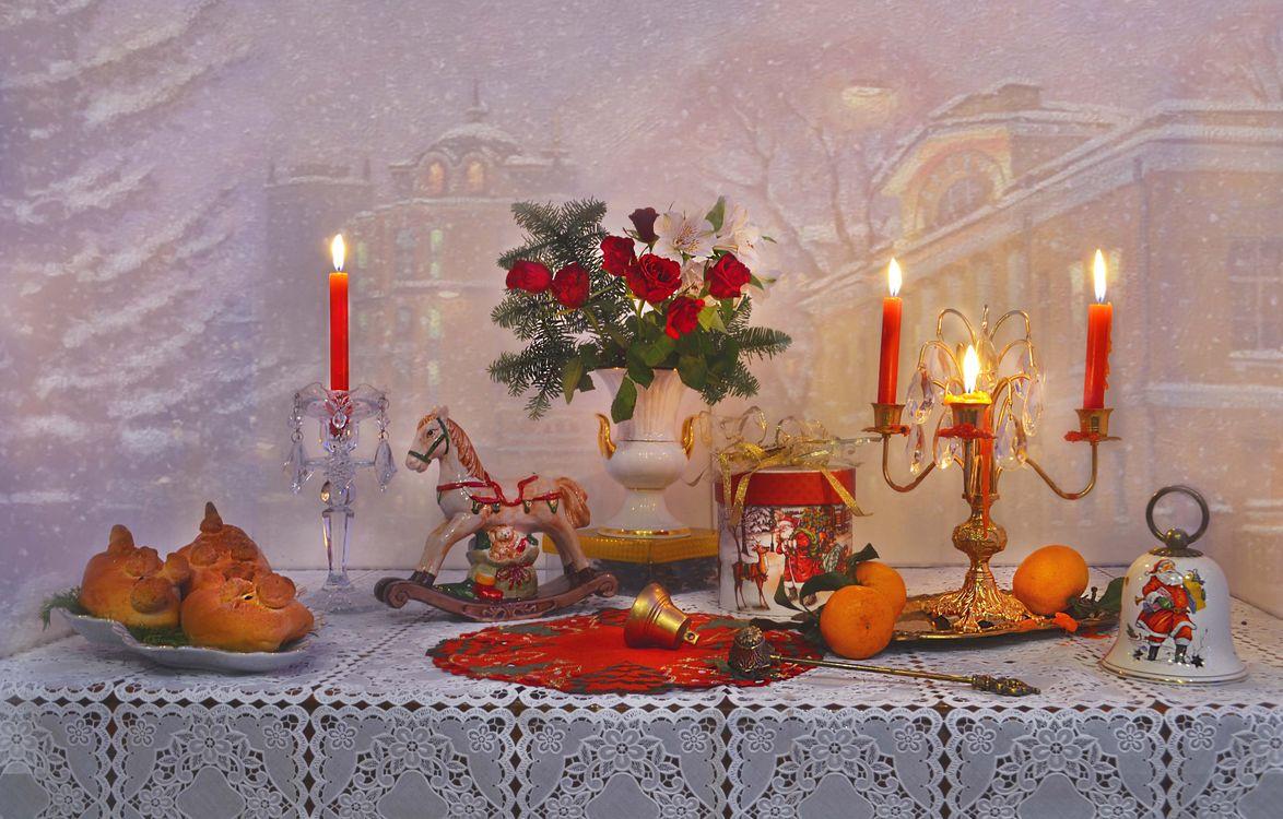 Фото бесплатно цветы, розы, Рождество - на рабочий стол
