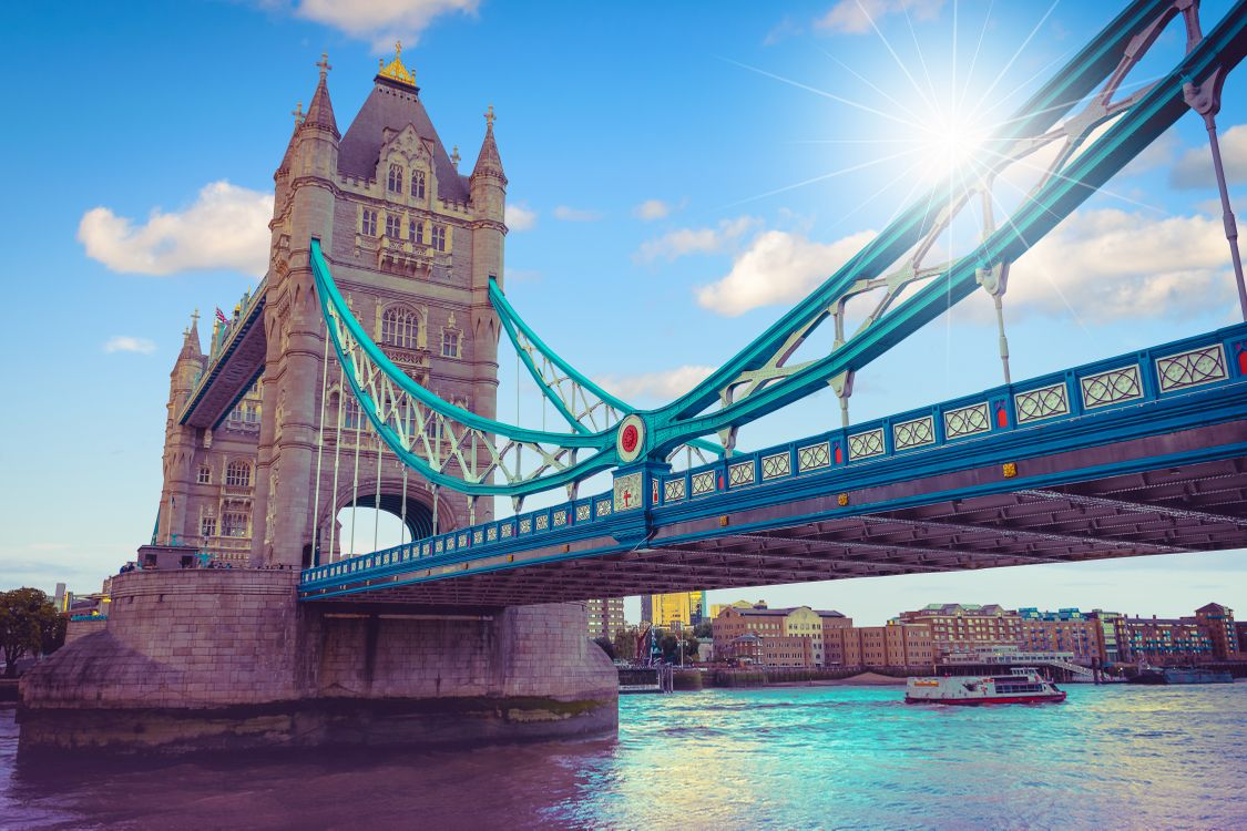 Фото бесплатно Тауэрский мост, Лондон, Великобритания - на рабочий стол