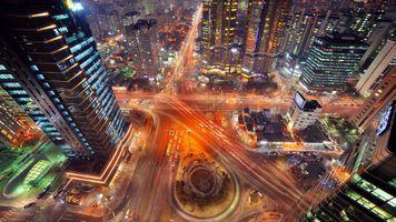 Фото бесплатно город, Сеул, с птичьего полета