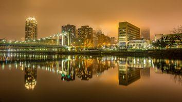 Бесплатные фото Миннеаполис,штат Миннесота,город,ночь,иллюминация,дома