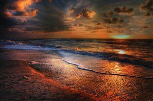 Заставки пейзаж, закат, песок