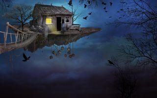 Фото бесплатно искусство, птица, мост
