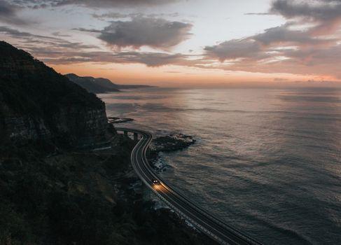 Фото бесплатно закат, восход, скалы