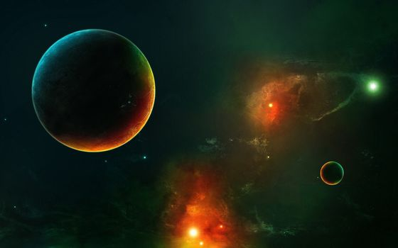 Фото бесплатно планета, Космос, Пространство искусства
