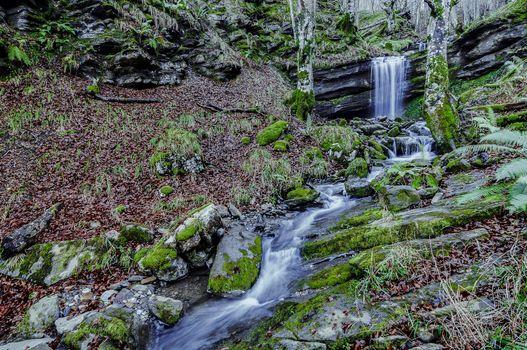 Photo free waterfall, flowing, rocks