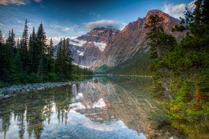 Фото бесплатно Гора Эдит Кавелл, Национальный парк Джаспер, Альберта, Канада, пейзаж, Mount Edith Cavell, Jasper National Park, Alberta, Canada
