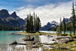 Photo free Jasper National Park, Maligne Lake, sky