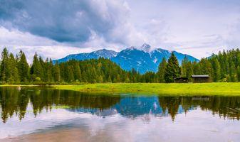 Фото бесплатно Австрия, горы, деревья