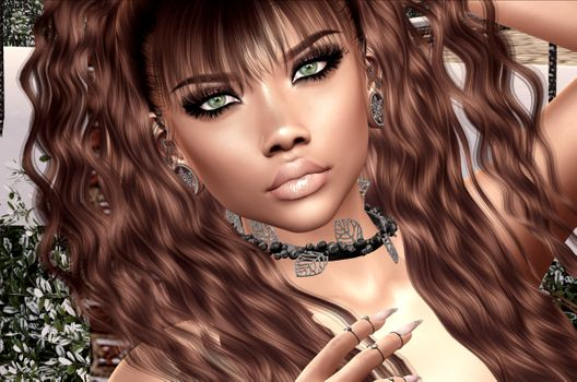 Фото бесплатно виртуальная девушка, волосы, портретное фото