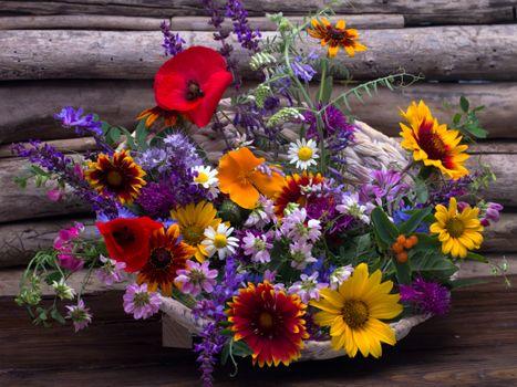Фото бесплатно цветок, оригинальный, праздничный букет