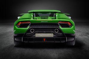 Фото бесплатно Ламборгини, автомобили 2018 года, зеленая машина