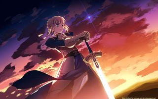 Фото бесплатно аниме девушки, аниме, сериалы, меч, трон