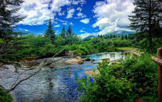 Бесплатные фото Baxter State Park,Maine State Park,река,лес,деревья,горы,природа,пейзаж