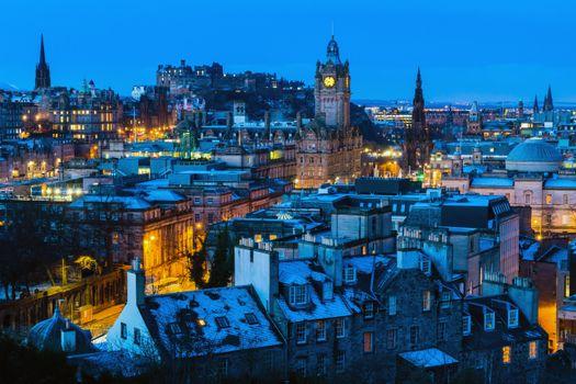 Photo free Calton Hill, the Castle, Edinburgh
