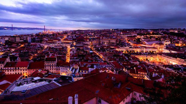 Фото бесплатно Лиссабон, ночь, освещение